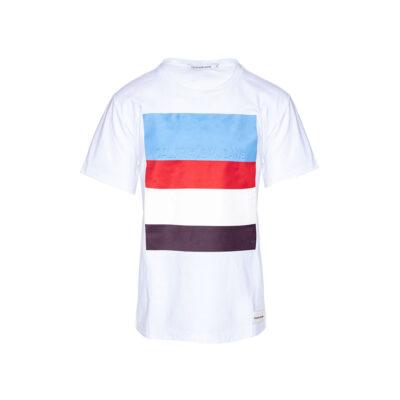 Muška majica Calvin Klein Jeans (bijela crna boja)
