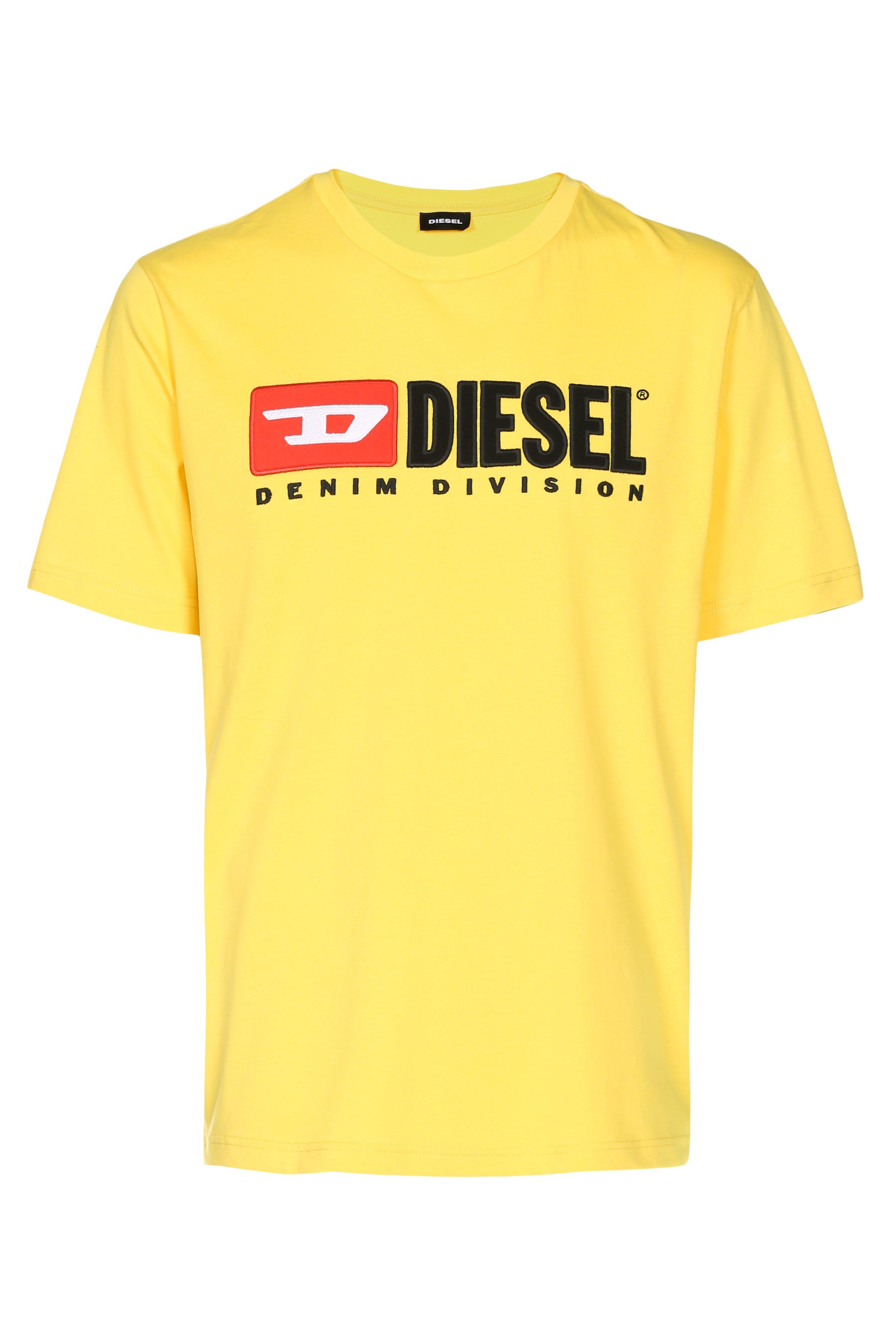 Muška majica Diesel (bijela / žuta boja)