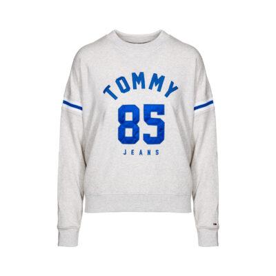 Ženska majica Tommy Jeans (siva boja)