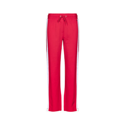 Ženske hlače Tommy Jeans (crvena boja)
