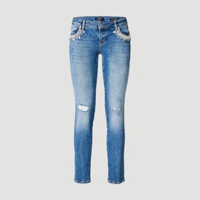 Ženske denim hlače Guess (svijetli traper)