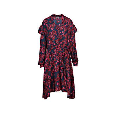 Ženska haljina Replay (crvena / plava boja)