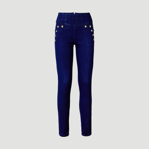 Ženske denim hlače Guess (crna boja)